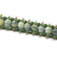 Centipede Green Disk Bracelet by Dragon