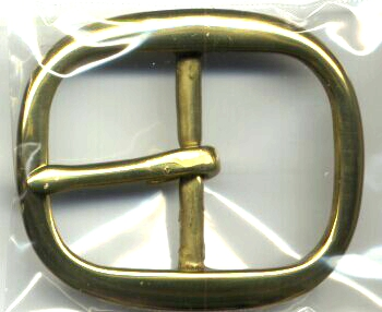 Center Bar Brass Buckle.