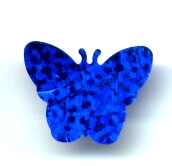 23 Blue Sequine Butterflies