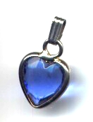 Blue Heart Pendant Dangle