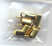 8 Gold Colored Crimp Ends