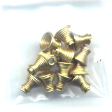 6 Gold Colored Small Springs
