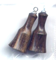 1 Pair of Little Hand Turned Fine Wood Bobbles
