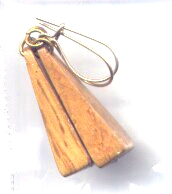 1 Pair of Little Bobble Wooden Earrings