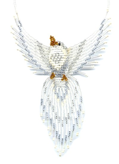 3D Beaded Dove Finished Product by Dragon