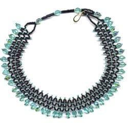 Mint Accordion Choker by Dragon