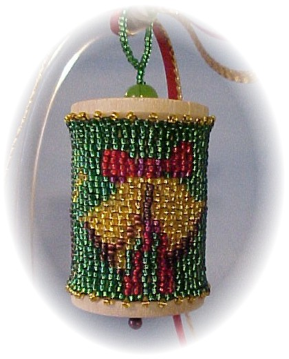 Christmas Bells Spool Ornament by Dragon