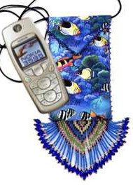 Ocean Cloth Cell Phone Bag by Dragon