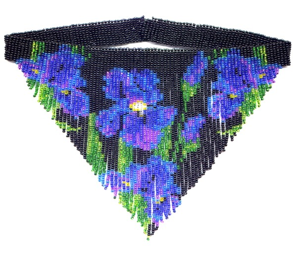 Iris Fringe Weave Necklace by Dragon