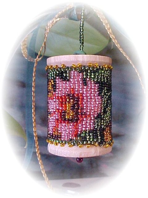 Christmas Flowers for Mom Spool Ornament by Dragon