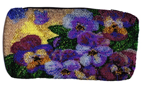 Pansy Butterfly Zipper Clutch Bag by Dragon