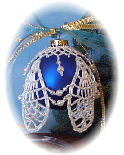 Pineapple Lace Christmas Ornament Cover by Dragon