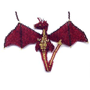 3D Beaded Red Dragon Pattern and Kit