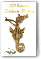3D Beaded Seahorse