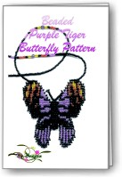 3D Purple Tiger Butterfly