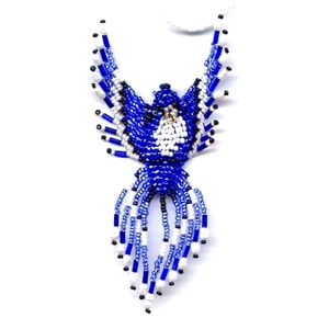 3D Beaded Blue Jay