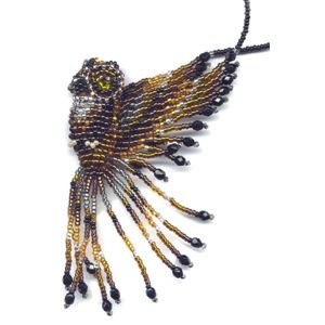 3D Beaded Horned Owl