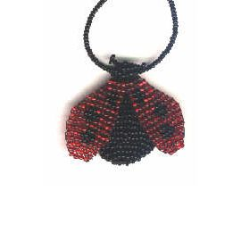 3d Beaded Lady Bug Pattern and Kit
