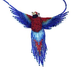 3D Beaded Macaw
