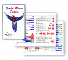 3D Beaded Macaw - Click Image to Close