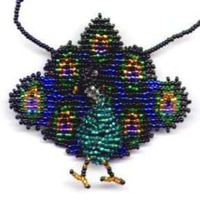 3D Beaded Peacock Bag
