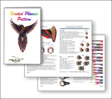 3d Beaded Phoenix Pattern And Kit