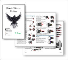 3d Beaded Raven Pattern And Kit