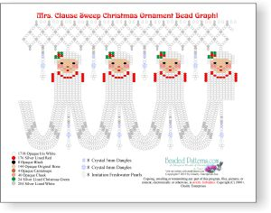 Mrs Claus Sweep Christmas Ornament Cover