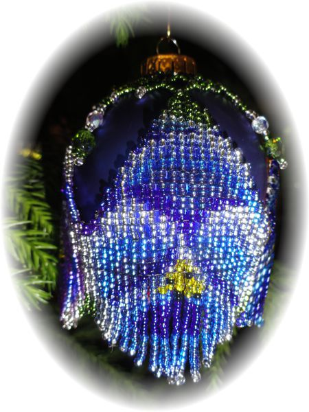 Blue Pansy Christmas Ornament Cover