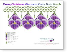 Purple Pansy Christmas Ornament Cover