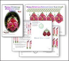Red Pansy Christmas Ornament Cover