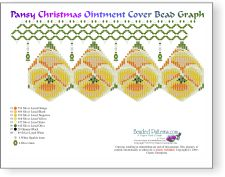Yellow Pansy Christmas Ornament Cover