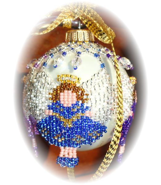 Angel Wing Blue Christmas Ornament