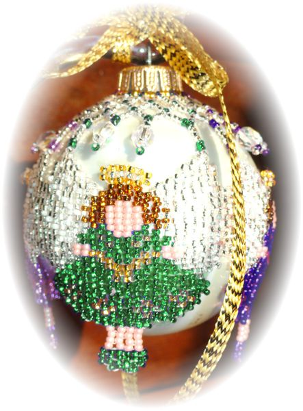 Angel Wing Green Christmas Ornament