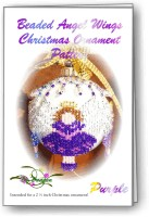 Angel Wing Purple Christmas Ornament