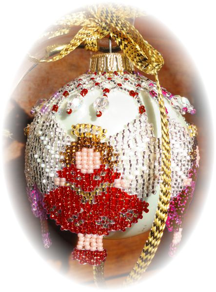 Angel Wing Red Christmas Ornament Pattern and Kit