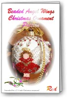 Angel Wing Red Christmas Ornament