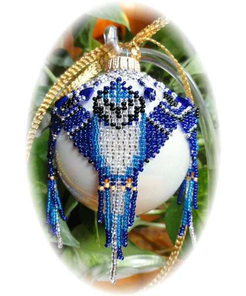 Blue Jay Christmas Ornament Pattern and Kit