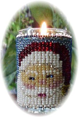 Santa's Beard Christmas Candle