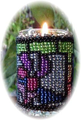 Stained Glass Little Candle