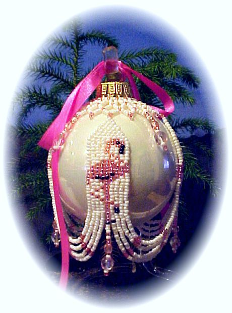 Flamingo Sweep Christmas Ornament Cover