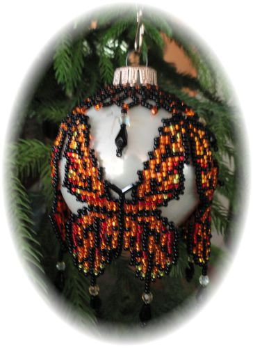 Monarch Butterfly Christmas Ornament Pattern and Kit
