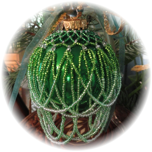 Ombre Green Christmas Ornament