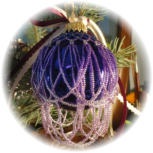 Ombre Purple Christmas Ornament
