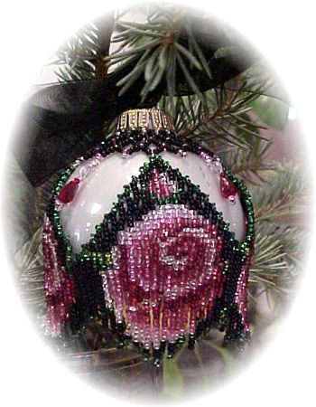 Rose Christmas Ornament Pattern and Kit