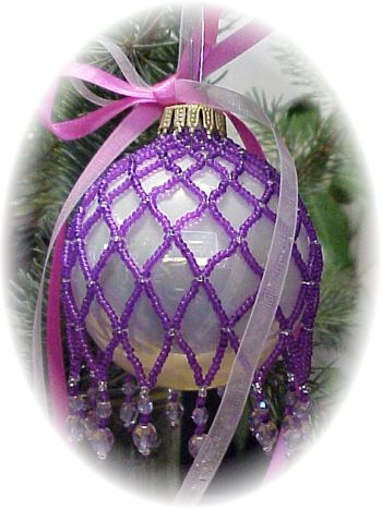 Zig Zag Purple Christmas Ornament