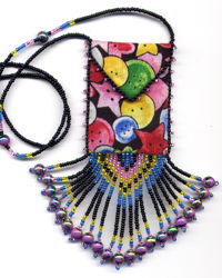 Bead and Button Amulet Bag Pattern & Kit