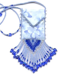 Blue Butterfly Amulet Bag Pattern & Kit