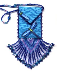 Blue Dragonfly Amulet Bag Pattern & Kit