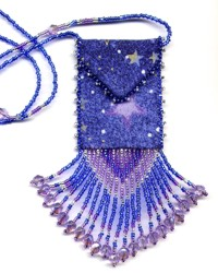 Blue Stars Amulet Bag Pattern & Kit